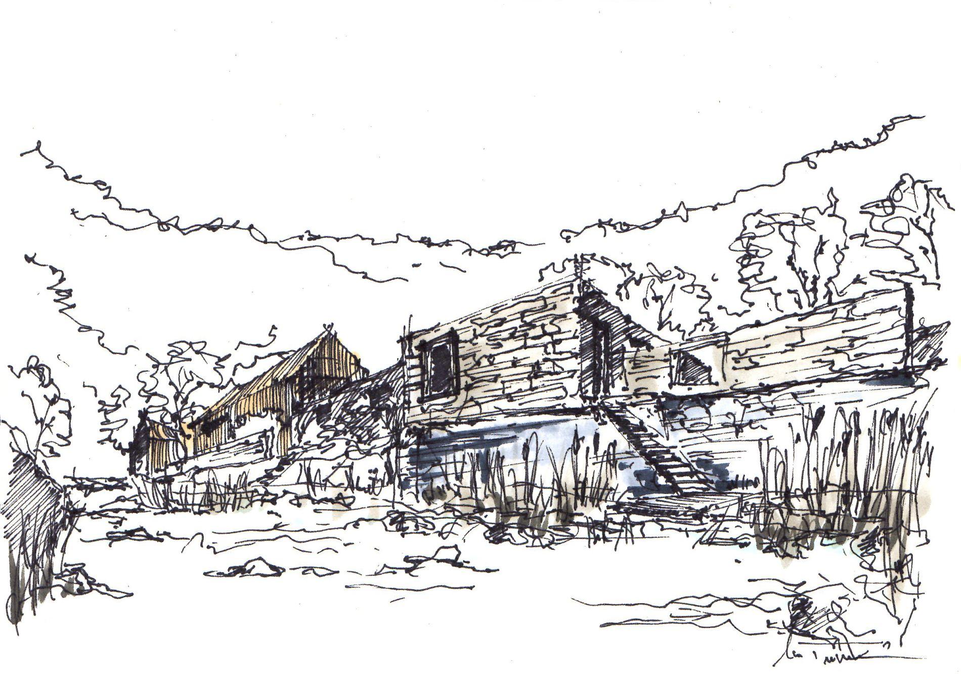 Revitalizace bývalého areálu zemědělského družstva v historickém centru městyse Doubravník